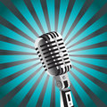 Vector mic background Stock Photos