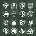 Vector military symbol icons Royalty Free Stock Photo