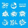 Vector milk or yogurt or cream Labels. Badges Sign Icon for farm food