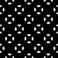 Vector minimalist seamless pattern, black & white Royalty Free Stock Photo