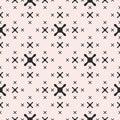 Vector minimalist texture, geometric seamless pattern with crosses