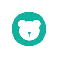 Vector minimalistic bear icon. Isolated on white