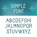 Vector minimalistic font set outline letters in modern style Stock Image