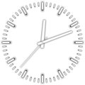 Vector minimalistic white clock front view Stock Photo