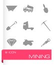 Vector mining icons set