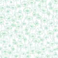 Vector mint green and white underwater seaweed plant texture drawing seamless pattern background. Great for subtle Royalty Free Stock Photo