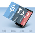 Vector mobile app development icon detailed representing smartphone and apps stages Stock Photo