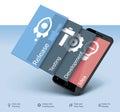 Vektor mobilný rozvoj ikona