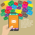 Vector mobile app -email marketing and promotion Royalty Free Stock Photo