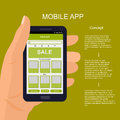 Vector mobile app interface design.