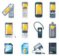 Vector mobile phones icon set Royalty Free Stock Photo