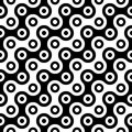Vector modern abstract geometry circles pattern. black and white seamless geometric background