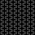 Vector modern abstract geometry nice pattern. black and white seamless geometric background Royalty Free Stock Photo