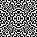 Vector modern abstract geometry psychadelic pattern. black and white seamless geometric crazy background