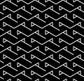 Vector modern abstract geometry triangle pattern. black and white seamless geometric background Royalty Free Stock Photo