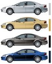 Vector modern car isolated Royalty Free Stock Photos