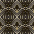 Abstract art deco seamless pattern 22 Royalty Free Stock Photo