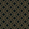 Vector modern geometric tiles pattern. golden lined shape. Abstract art deco seamless luxury background Royalty Free Stock Photo