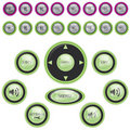 Vector Modern Media Player Button Set Royalty Free Stock Photo