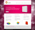 Vector Modern product homepage template Stock Images