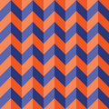 Vector modern seamless colorful geometry chevron lines pattern, color blue orange abstract Royalty Free Stock Photo