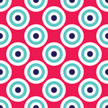 Vector modern seamless colorful geometry circles pattern, color abstract Royalty Free Stock Photo