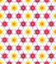 Vector modern seamless colorful geometry floral pattern, color abstract geometric background