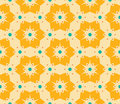 Vector modern seamless colorful geometry floral pattern, color abstract geometric background Royalty Free Stock Photo