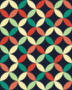 Vector modern seamless colorful geometry overlapping circles pattern, color abstract Royalty Free Stock Photo