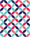 Vector modern seamless colorful geometry overlapping circles pattern, color abstract