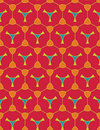 Vector modern seamless colorful geometry pattern, color red abstract geometric background Royalty Free Stock Photo