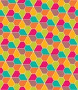 Vector modern seamless colorful geometry pattern, flowers pentagon