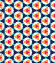 Vector modern seamless colorful geometry pattern triangle polygon, color blue orange abstract