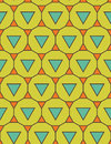 Vector modern seamless colorful geometry pattern triangle polygon, color green blue orange abstract Royalty Free Stock Photo