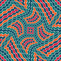 Vector modern seamless colorful geometry pattern weird, color abstract Royalty Free Stock Photo