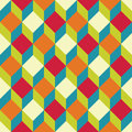 Vector modern seamless colorful geometry square pattern, color  abstract Royalty Free Stock Photo