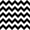 Vector modern seamless geometry pattern chevron, black and white abstract Royalty Free Stock Photo