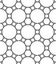 Vector modern seamless geometry pattern circles, black and white abstract