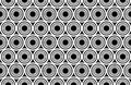 Vector modern seamless geometry pattern circles concentric, black and white abstract