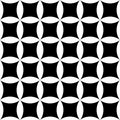 Vector modern seamless geometry pattern floral, black and white abstract Royalty Free Stock Photo