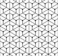 Vector modern seamless  geometry pattern grid, black and white abstract Royalty Free Stock Photo