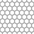 Vector modern seamless geometry pattern hexagon, black and white honeycomb abstract