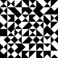 Vector modern seamless geometry pattern random triangle, black and white abstract Royalty Free Stock Photo
