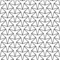 Vector modern seamless geometry pattern star, black and white abstract