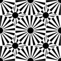 Vector modern seamless geometry pattern target, black and white abstract