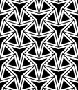 Vector modern seamless geometry pattern three point star, black and white abstract
