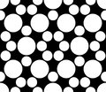 Vector modern seamless sacred geometry pattern circles, black and white abstract