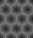 Vector modern seamless sacred geometry pattern dots, black and white abstract Royalty Free Stock Photo