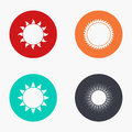 Vector modern sun colorful icons set Royalty Free Stock Photo