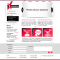 Vector modern webdesign - web page template Stock Photography